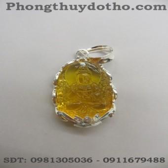 Mặt phật A di đà màu vàng dài 4,8 x 3 cm