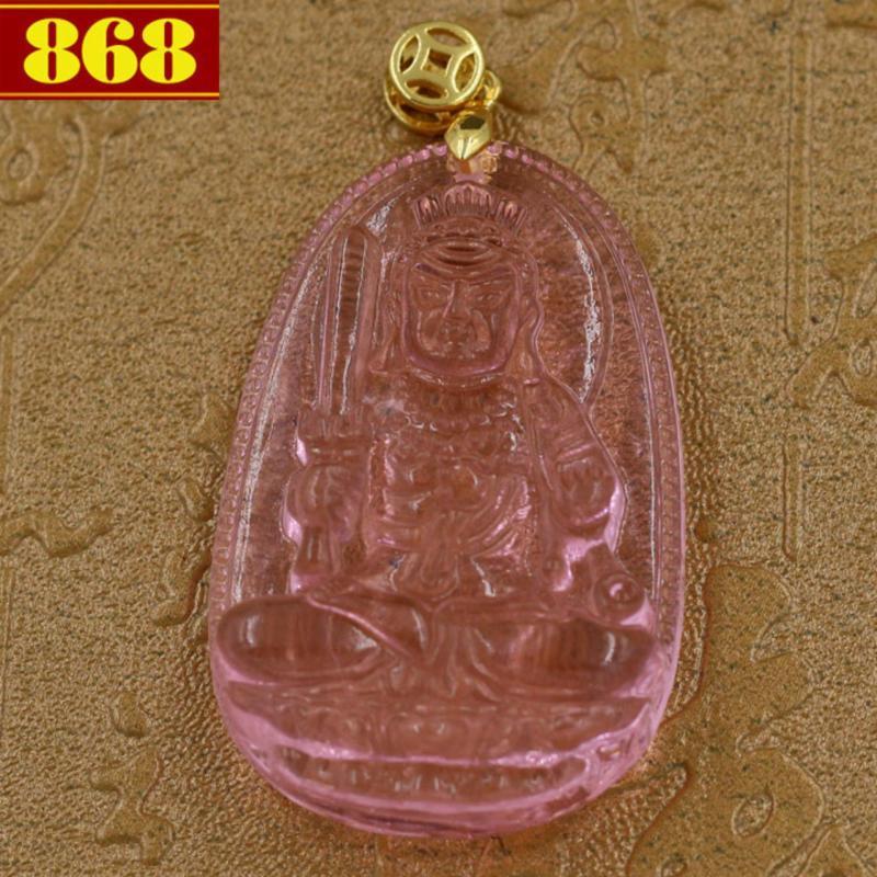 Mặt Phật Bất động minh vương pha lê hồng