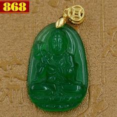 Mặt Phật Đại Thế Chí Bồ Tát size nhỏ 3.6 cm – đá thạch anh xanh