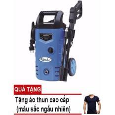 Máy phun xịt rửa cao áp có bánh xe (Kachi - 1400W - Xanh) - Tặng áo thun body nam cao cấp