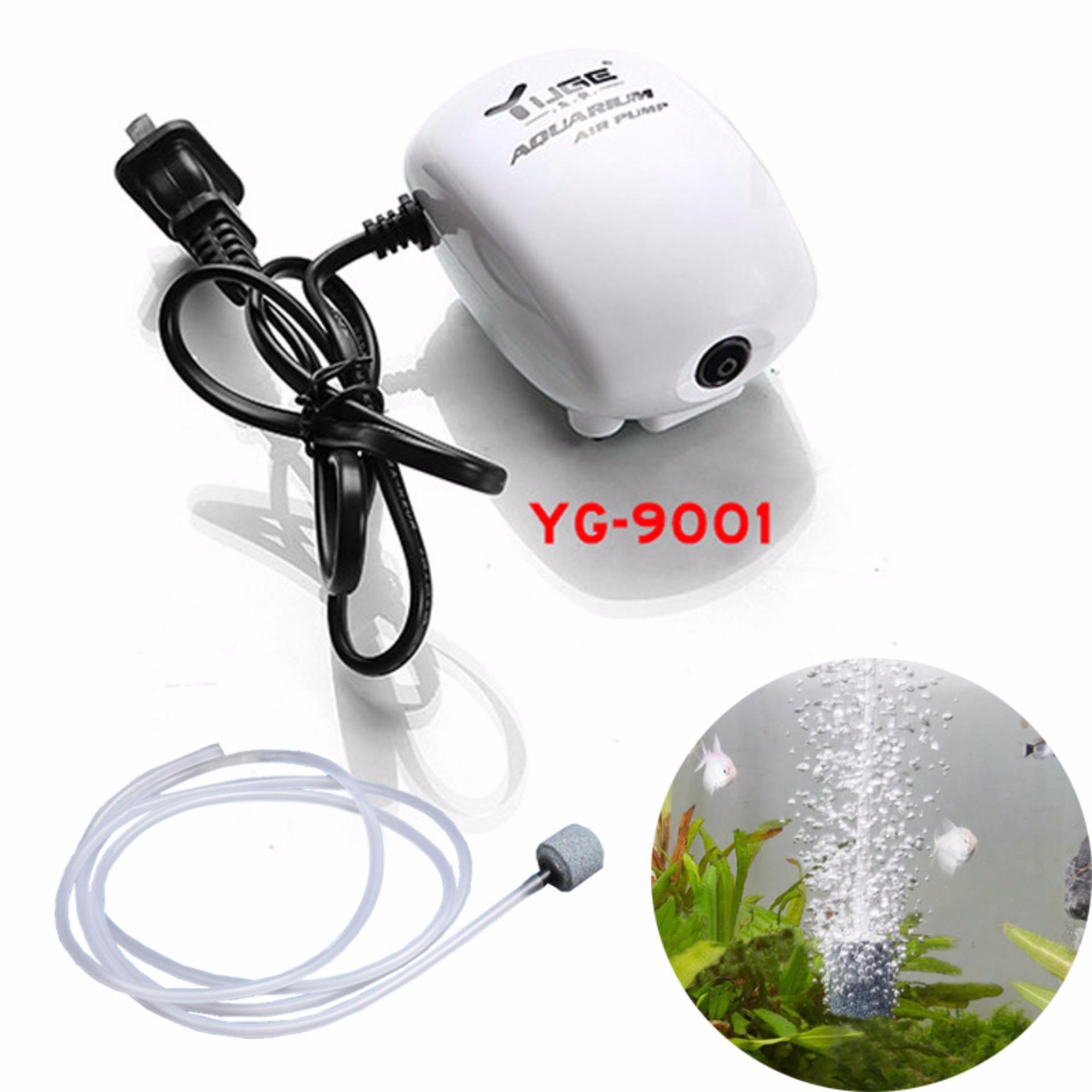 Máy sủi, tạo khí oxy cho bể cá cảnh 1 đầu YG9001 loại nhỏ