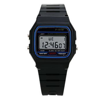 Men Electronic Led Digital Multifunction Sport Watch (Black) - Intl
