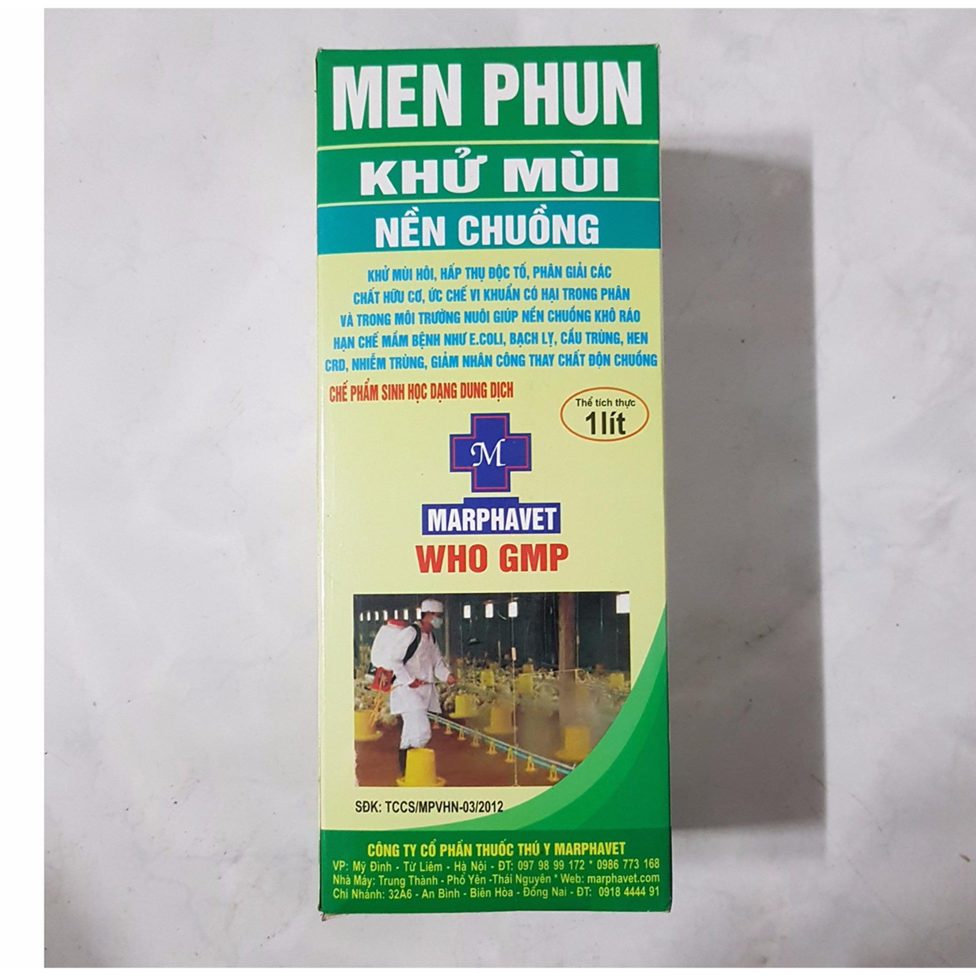 Chi tiết sản phẩm Men phun khử mùi chuồng trại, phân hủy phân thú 1 lít