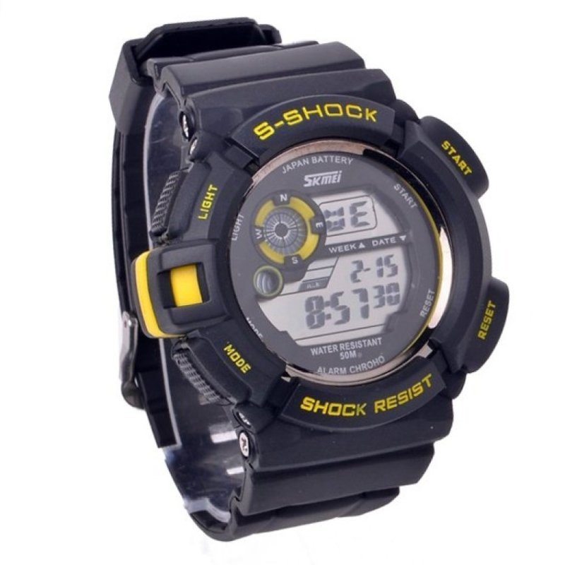 Nơi bán Mens Multi Function Sports Wrist Watch (Yellow)(Not Specified)(OVERSEAS) - intl