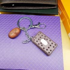 Móc chìa khóa bánh quy vuông có đèn