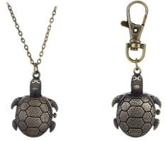 Móc khóa và dây chuyền mặt đồng hồ Rùa Kim Quy
