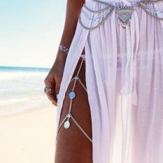 Moonar Thời Trang nữ đồng xu cỡ đùi dây chuyền vòng tay-quốc tế
