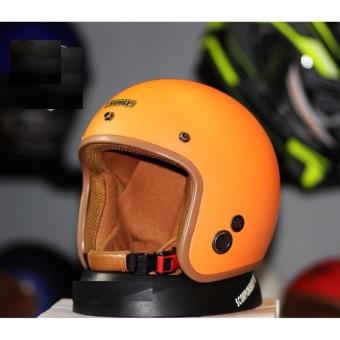 Mũ Bảo Hiểm 3/4 Napoli SH 02 - Tem chuẩn CR ( màu cam)