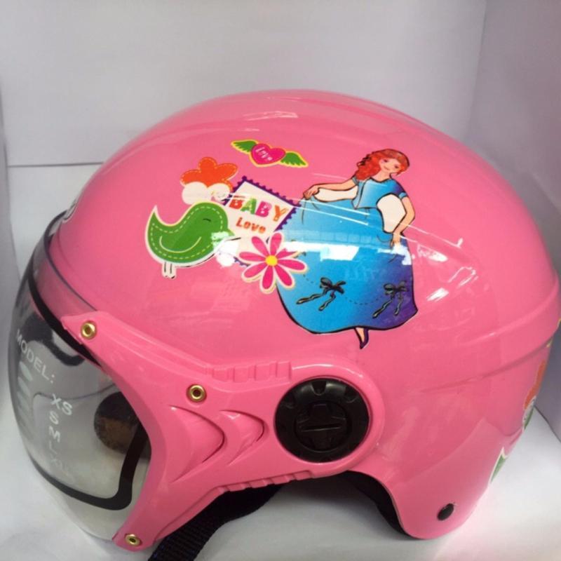 Mũ bảo hiểm trẻ em tem công chúa (Hồng)