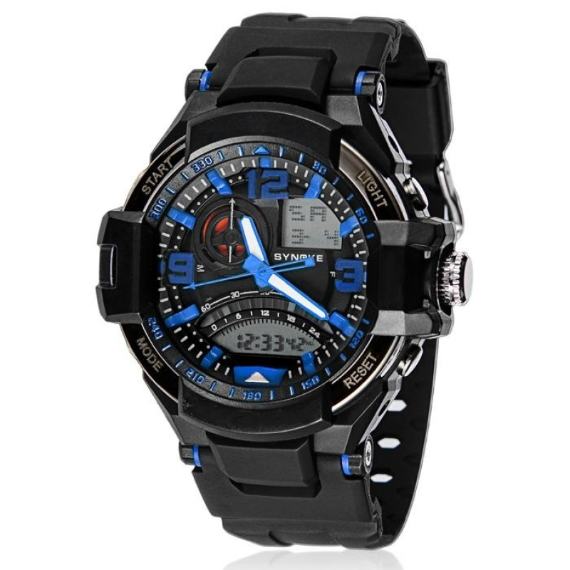 Nơi bán Multi Function Military Digital LED Quartz Sports Watch Waterproof Blue - intl