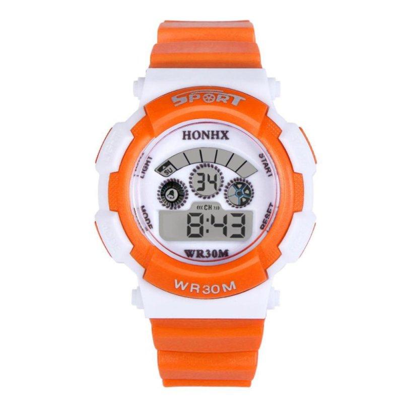Multifunction Waterproof Sport Electronic Digital Wrist Watch (Orange) - intl bán chạy