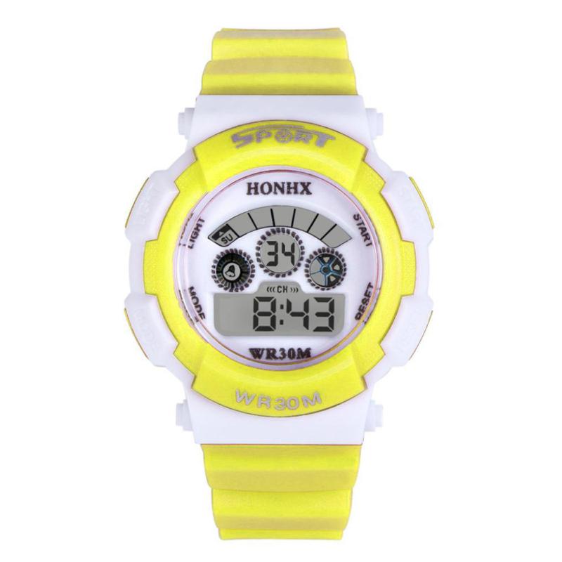 Multifunction Waterproof Sport Electronic Digital Wrist Watch (Yellow) - intl bán chạy