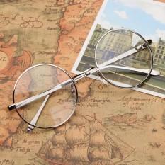 Thời Trang mới Vintage Vòng Vòng Tròn Mắt Kính Gọng Cận Thị Kính Quang Học Rx có thể Bạc-quốc tế