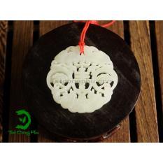Ngọc Bội Ngọc Thạch Chữ Phúc Trà Công Phu NB15 ( đá – xanh ngọc)
