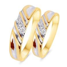Nhẫn cặp bạc mạ vàng 14k đá kim cương nhân tạo – NCAP81.