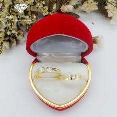 Nhẫn Đôi Bạc, Nhẫn Đôi Đẹp, Nhẫn Đôi Chữ H Xi Vàng Chất Liệu Bạc Ta Cao Cấp Bảo Tín