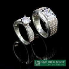 Nhẫn đôi BẠC HIỂU MINH nc448 ông xã bà xã
