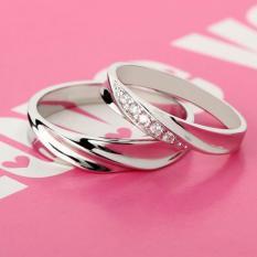 Nhẫn đôi tình yêu Freesize đính đá lấp lánh HHN-JZ108(Nhẫn Cặp)