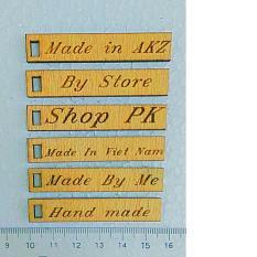 nhãn mác gỗ theo yêu cầu x 100 chiếc
