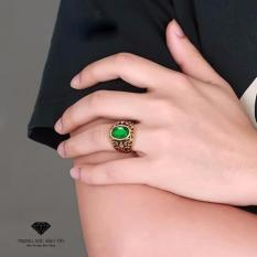 Nhẫn Nam Chất Liệu Titan Mạ Vàng 18K Cao Cấp Cho Nam (xanh lá) – Thương Hiệu Bảo Tín