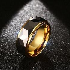 Nhẫn nam Hàn Quốc vonfram NH08 gold