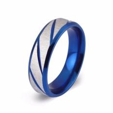 Nhẫn nam sọc xanh dương thời trang