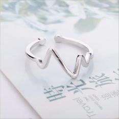 Nhẫn nữ hình nhịp tim Simple Style phong cách Châu Âu (NN06)