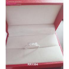 Nhẫn nữ trang sức bạc Ý S925 Bạc Xinh – Nơ đẹp RR1394
