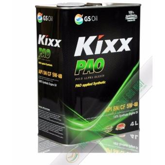 Nhớt tổng hợp cao cấp cho ô tô Kixx Pao 5W40 4L