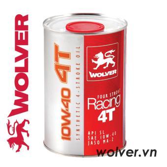 Nhớt xe máy tổng hợp WOLVER FOUR STROKE RACING 4T 10W-40 nhập khẩuĐức