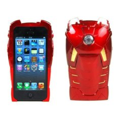 Giá Khuyến Mại niceEshop 2 In 1 3D Avengers Iron Man Hard Back Case for Apple IPhone 5 (Red) – Intl   niceE shop