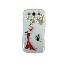Giá Khuyến Mại niceEshop 3D Mermaid Flower Cat Shiny Crystal Rhinestone Case for Samsung Galaxy S3 I9300 (Clear) – Intl  niceE shop