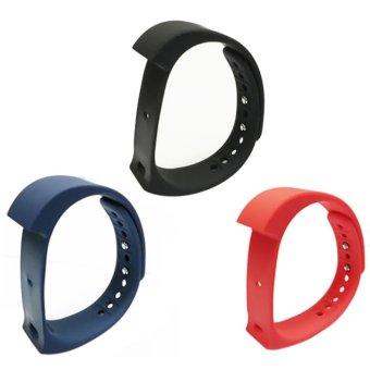 niceEshop 3Pcs Original Replacement IWown I5 Plus Strap, Black Blueand Red