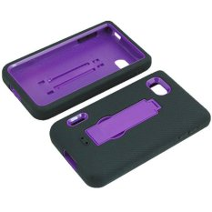 Giảm Giá niceEshop PC Silicone Double Layer Hybrid Kickstand Case for LG Optimus F3 LS720 (Violet) – Intl   niceE shop