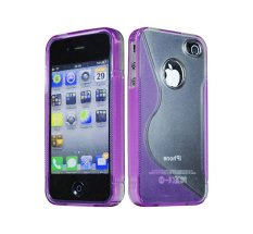 Báo Giá niceEshop S Line Wave TPU Silicone Case for iPhone 4 4S (Purple) – Intl   niceE shop