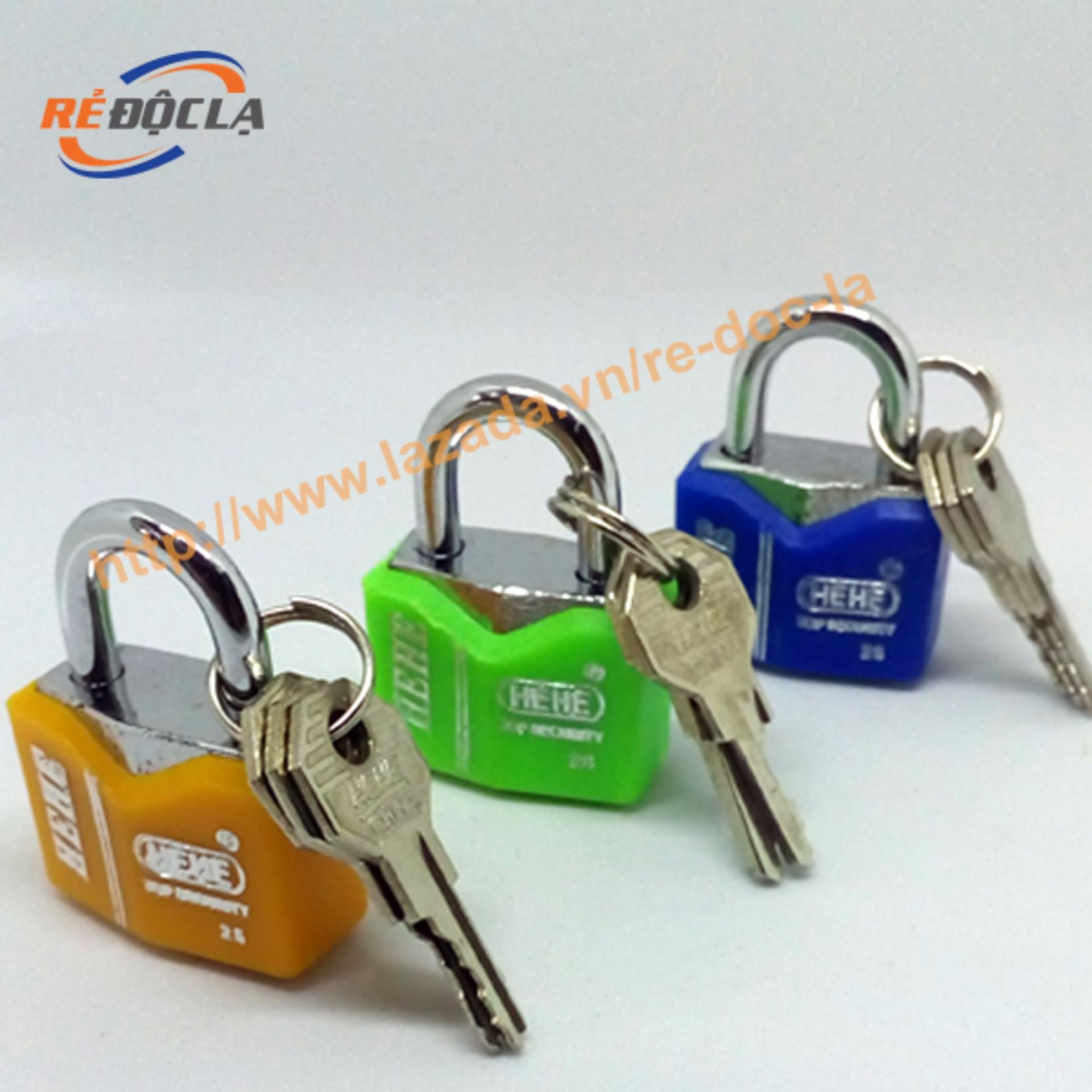 Nơi Bán Ổ khóa mini HEHE dành cho vali, balo, túi xách ( Màu ngẫu nhiên )