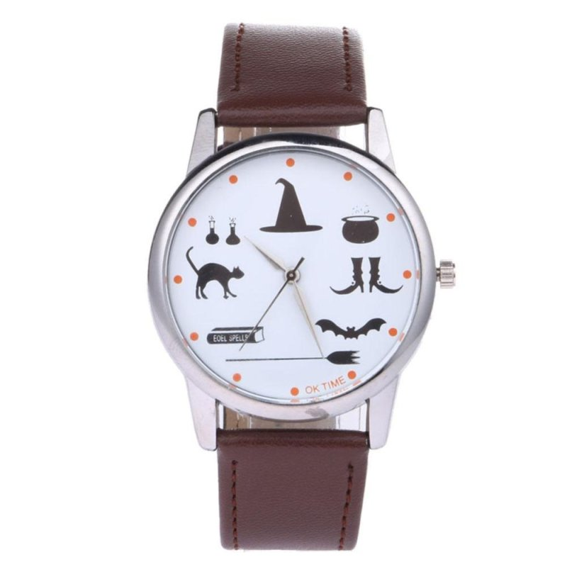 OK TIE tudent Cartoon Deigneather Quart Writwatch (Dark Brown) - intl bán chạy