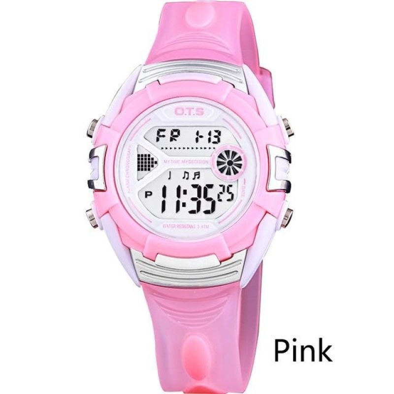OTS 6999 Children Fashion Casual Digital Watches 50M Waterproof Jelly Kids Watch Boys Girls Students Wristwatches - Purple - intl bán chạy