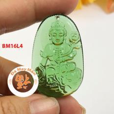 Mặt Dây Chuyền Phật Bản Mệnh Phổ Hiền Bồ Tát Lưu Ly Xanh Lá Nhỏ