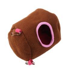 Sang trọng Cotton Võng Treo Cây Giường Nhà Tổ cho Chuột Hamster Sóc (Nâu) (L)-quốc tế