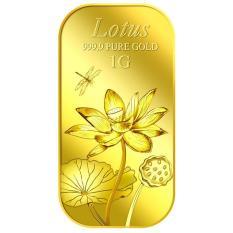 Puregold miếng vàng hình hoa sen 1g – Vàng 999.9 nhập khẩu Singapore