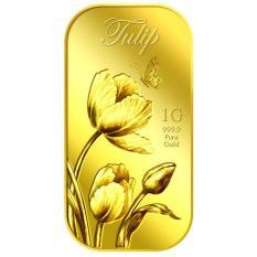 Puregold miếng vàng hình hoa Tulip – vàng 999.9