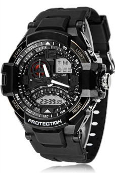 Quartz Analog Digital LED Waterproof Men