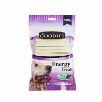 Que thức ăn vặt vị sữa size lớn cho chó hiệu Goodies calcium 500gr