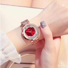 [RẺ BẤT NGỜ] Đồng hồ nữ GUOU dây thép đá chạy thời thượng G36-41