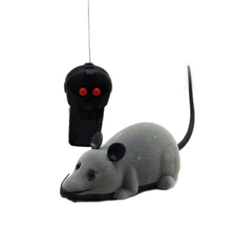 Remote Control Rat Mouse Toy For Cat Dog Pet Novelty Gift FunnyGray- intl