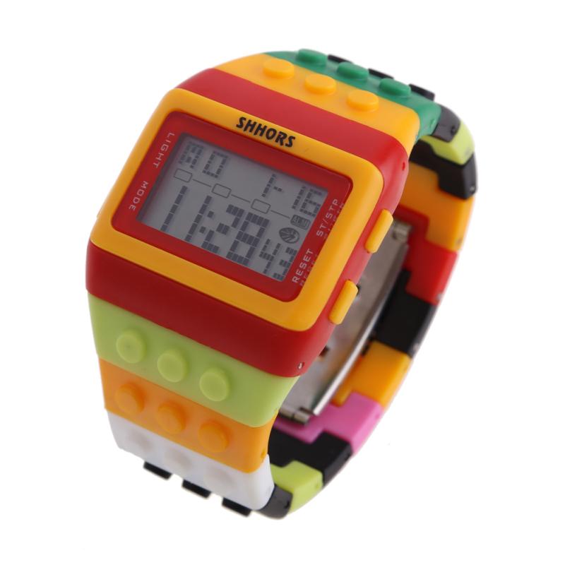 Retro Chic Unisex Digital Constructor Multi Function Watch Sports A - bán chạy