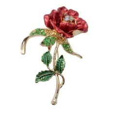 Hoa hồng Diamante Tặng Món Quà Cưới Phụ Kiện Pin Thổ Cẩm-quốc tế