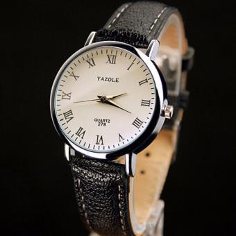 [SALE24h] Đồng hồ nữ dây da Yazole 278_BL5145 (Đen)