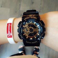 SANDA Brand Men's Fashion Personality Secondary Colour LED Digital Dual Display Waterproof Sport Wristwatch – intl